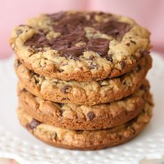 Giant salted caramel chocolate chip cookie