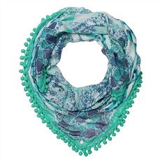 Talitha Square Scarf - loving these shades of blue.