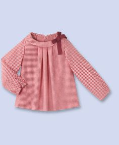 The cutest little French blouse. In navy, red or pink gingham.
