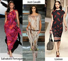 Look to the left...LOVE this take on the animal print by Salvatore Ferragamo.