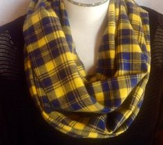 A personal favorite from my Etsy shop https://www.etsy.com/listing/229557449/flannel-infinity-scarf-michigan