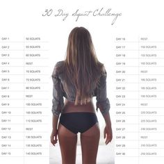 30 Day Squat Challenge... I wonder if this will make my butt firmer and thighs smaller?!