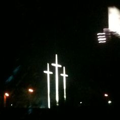 3 Crosses at Bellevue Baptist Church in East Memphis... you can see them from quite distance, they are gorgeous when lit at night :)