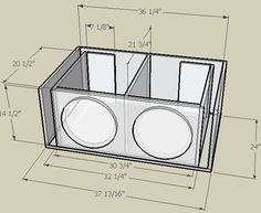 4 12 subwoofer box design 1