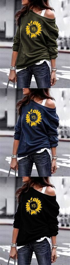 Sunflower One Shoulder Stylish Women Daily Fashion Fall Tops Fast Fashion Brands, Latest Fashion Trends, Fall Winter Outfits, Autumn Winter Fashion, Fashion Fall, Urban Chic, Casual Outfits, Fashion Outfits, Daily Fashion