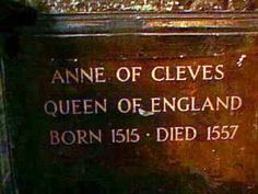 Anne of Cleves final resting place.