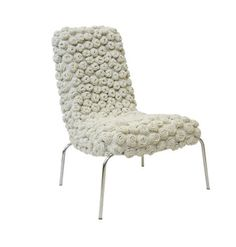 Knitted chair by Eulália de Souza Anselmo. via chair blog