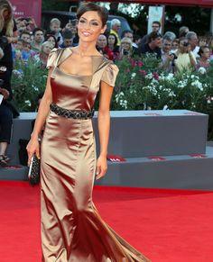 Raffaella Fico Italian Beauty, Vanity Fair, Sari, Women's Fashion, Pants, Dresses, Style, Red Carpet, Fashion Ideas