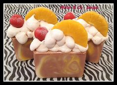 Luxurious Cold Process Artisan Soap Pineapple Cake by MilancoSoaps, $6.00