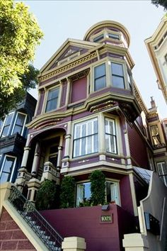 Just because it's beautiful, here's another example of a Victorian home in San Francisco.