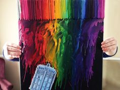 Doctor Who Crayon Art by Shayla Miller, via Behance