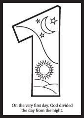 Creation coloring pages.  Sunbeams lessons on the Creation at the beginning of the year