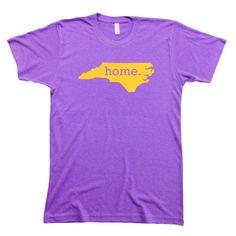 North Carolina Home State Men's T-Shirt PURPLE GOLD Tee Shirt Tri-Blend #ECU #Pirates
