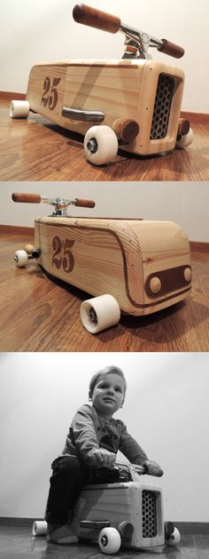 Woodworking Toys, Woodworking Projects Diy, Wood Projects, Wooden Car, Wooden Toys, Wooden Crafts, Diy And Crafts, Kids Wagon, Wood Toys Plans