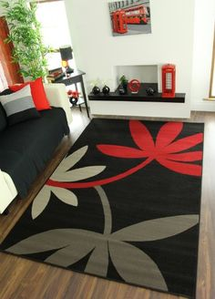 Decor, Room Rugs, Rugs, Black And Grey Rugs, Contemporary, Rug Design, Contemporary Rugs, Pom Pom Rug, Patio Rugs