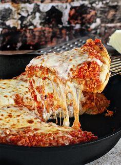 Turkey Sloppy Joe Skillet Pizza