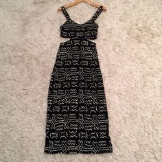 Tribal Cut Out Maxi Dress Unique piece, perfect condition. Urban Outfitters Dresses Maxi