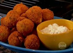 Clemson Girl Tailgate Recipe - Buffalo Chicken Cheese Balls with Blue Cheese dip