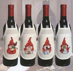 Red Gnomes Wine Bibs