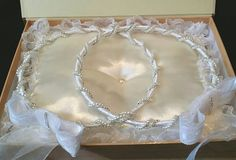 A personal favorite from my Etsy shop https://www.etsy.com/listing/225798100/handmade-wedding-crowns-greek-stefana