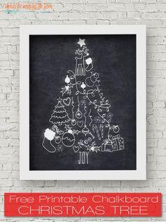 christmas+tree+chalkboard+printable.png 700×938 pixels