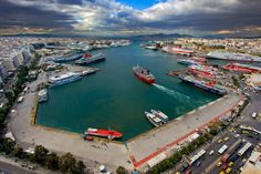 The modern port of Piraeus, being one of the largest in Europe, is a development hub for both the Greek shipping and the country's economy. Attica Greece, Acropolis, Air Travel, Tourism, River, Island, City, World, Outdoor