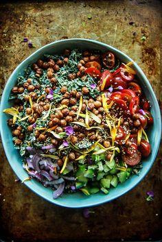 Tahini Salad with Crispy Chickpeas
