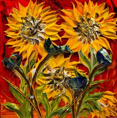 24x24 Sunflower By: Justin Gaffrey