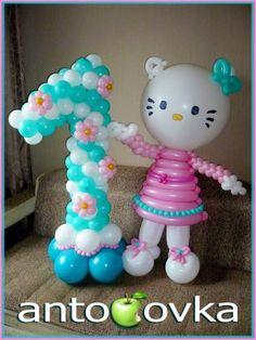 Антоновка - цифра из шаров, цифры из воздушных шаров, буквы из шаров, надувные воздушные шары в Туле