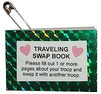 Traveling Swap Book - it's like a traveling letterbox but within Scouts.