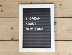 Persoonlijke Letterposter incl. lijst My Dream, Letter Board, Lettering, Poster, Accessories, Calligraphy, Letters, Billboard, Texting
