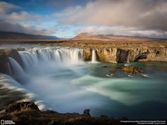 The Goðafoss waterfall, one of the most spectacular waterfalls in Iceland!  Visit Europe - Google+