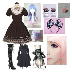 """""""Lolita"""" by roselalonde13 ❤ liked on Polyvore featuring Cotton Candy, Sweet & Co. and Demonia"""