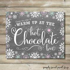 Winter Wonderland Onederland Hot Chocolate by SimplySweetPrintShop