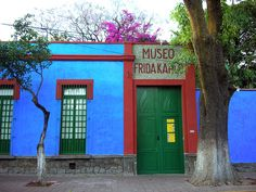 This charming bright blue house at Coyoacan is where Frida Kahlo was born
