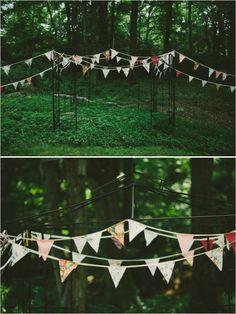 backyard wedding ceremony decorations