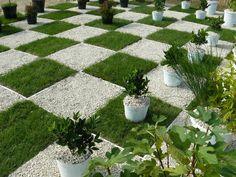 schöne deko für garten - gras mit kies kombinieren - Gartengestaltung: 60 fantastische Garten Ideen