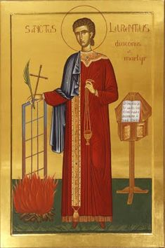 Saint Lawrence of Rome as a Model Deacon (St. Ambrose of Milan) St Lawrence Martyr, Saint Costume, Holy Priest, Best Icons, Byzantine Art, Religious Images, Soul Art, Orthodox Icons, Christianity