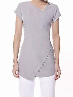 spa-salon-beauty-massage-hairdressing-uniform-WHITE-tunic-st14-size-20