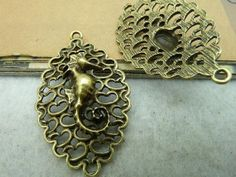 20pcs 26x43mm Antique Bronze Seamaster Charms Pendants door JuanGao, $8.00