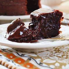 Receita: Bolo de Chocolate de Coração Mole