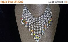 Now On Sale Vintage Bib Necklace Statement by MartiniMermaid