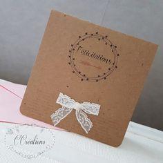 Carte de félicitations mariage ou naissance  par WeddingandRomance