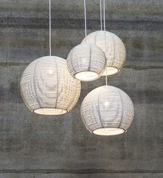 Pendant lamp / contemporary / rattan - SANGHA by Dark Studio - DARK AT NIGHT NV