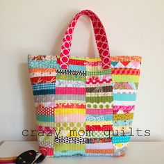 scrap happy purse pattern - crazy mom quilts