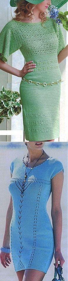 Elegantes agujas gancho del vestido.