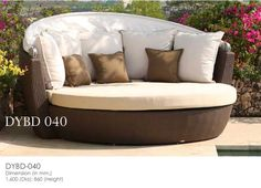 Synthetic Rattan Wicker Daybed Leola Furniture Outdoor Furniture Manufacturer From Bali Indonesia