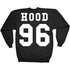 Minamo Calum Hood Double Print Sweatshirt ($37) ❤ liked on Polyvore featuring tops, hoodies, patterned sweatshirts, hooded top, sweat shirts, pattern tops and sweatshirt hoodies