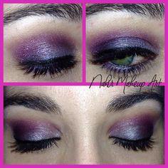Sin duda este es mi maquillaje favorito para noche o algun evento especial pues considero q los tonos violaceos resalta el iris del ojo verde como el mio! Sin duda un gran acierto para una ocasion especial