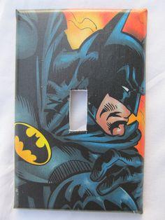 6074501ea22e Handmade DC Comics  Batman light switch cover - made with real comic books.   6.99